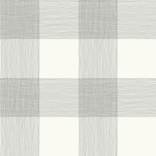 Common Thread Wallpaper in Grey and White from Magnolia Home Vol. 2 by Joanna Gaines