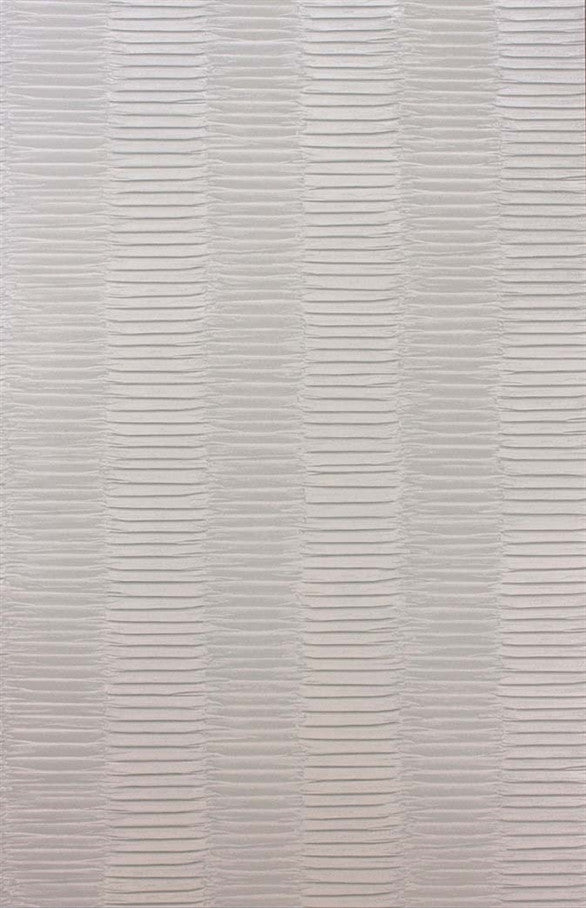Concertina Wallpaper in Silver by Nina Campbell for Osborne & Little