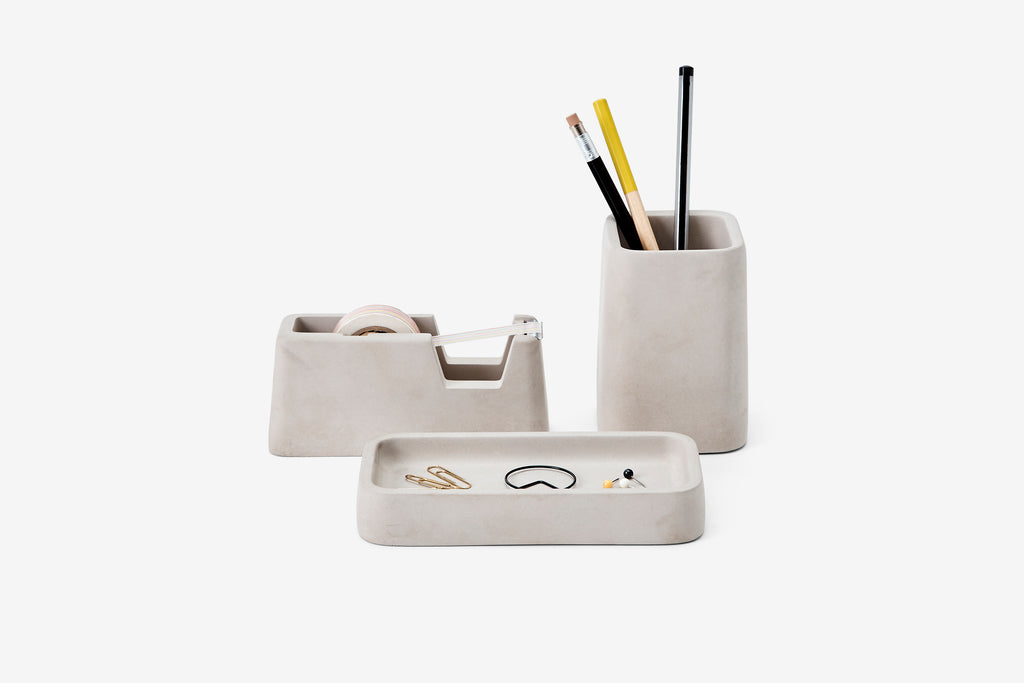 Concrete Desk Set in Gray design by Areaware