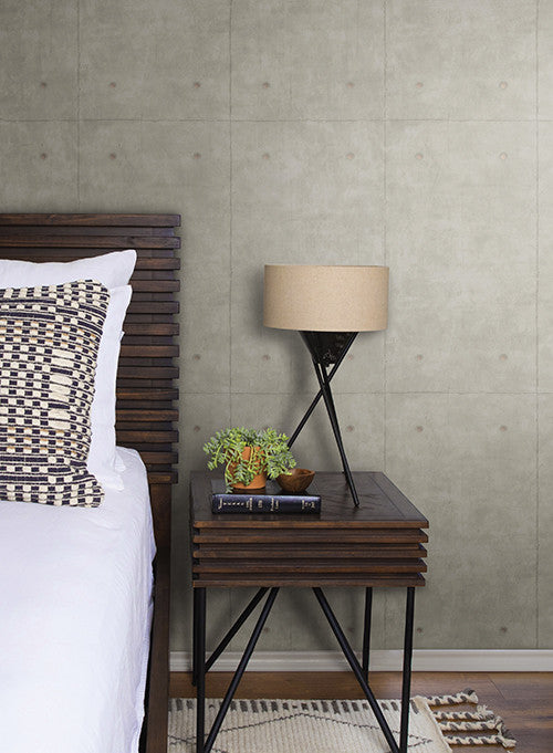 Concrete wallpaper in deep grey from the magnolia home - Joanna gaines bedding collection ...