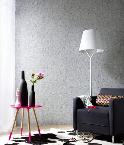 Concrete Wallpaper in Grey-Blue design by BD Wall