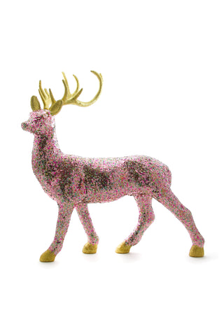 Confetti Deer Velvet Ball Holiday Decor by Cody Foster & Co.