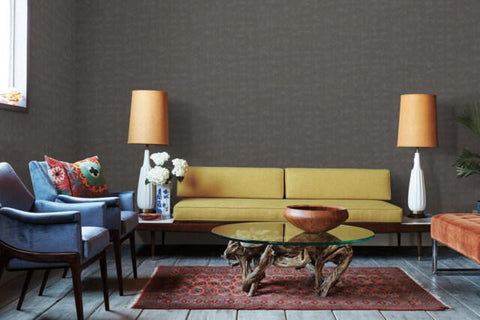 Conservation Wallpaper in Stone from the Moderne Collection by Stacy Garcia for York Wallcoverings