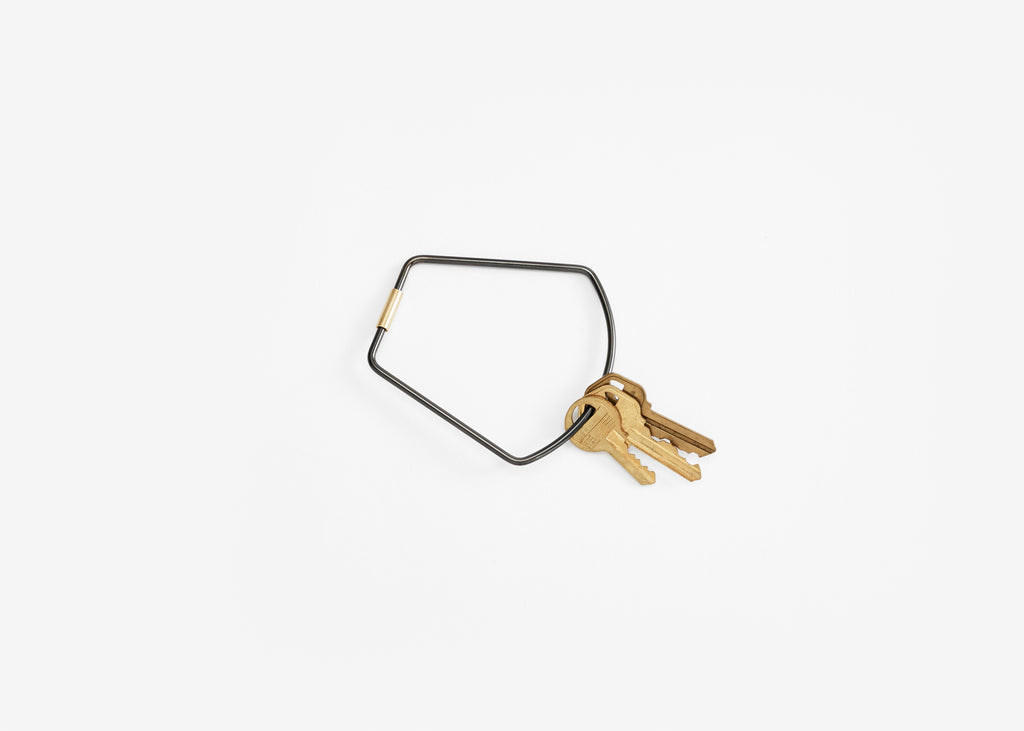Contour Key Ring in Various Shapes & Colors design by Areaware