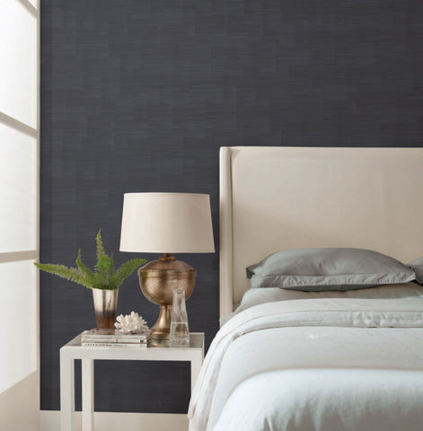 Convergence Wallpaper in Midnight from the Moderne Collection by Stacy Garcia for York Wallcoverings