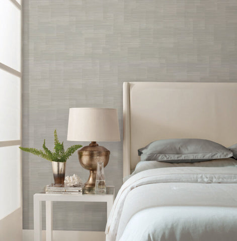 Convergence Wallpaper in Silver from the Moderne Collection by Stacy Garcia for York Wallcoverings
