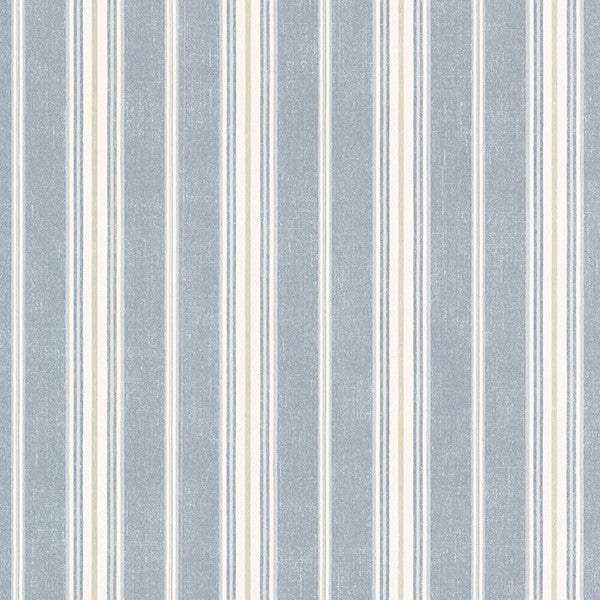 Sample Cooper Denim Cabin Stripe Wallpaper from the Seaside Living Collection by Brewster Home Fashions