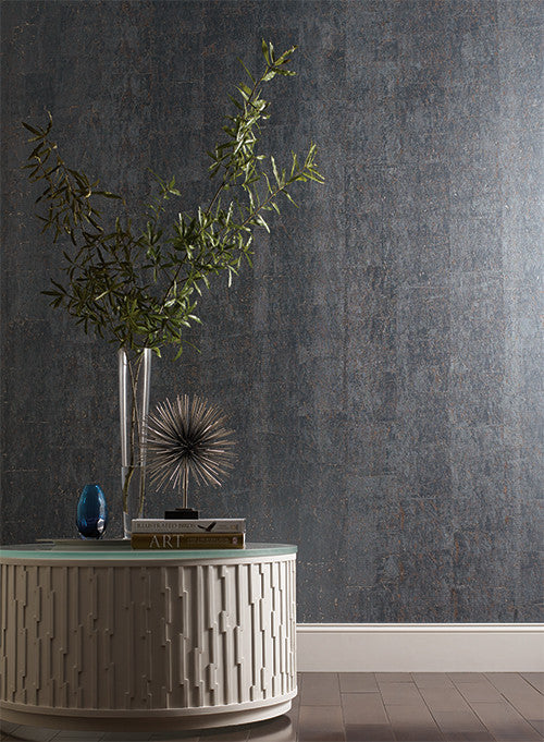Cork Wallpaper In Pearl Design By Candice Olson For York