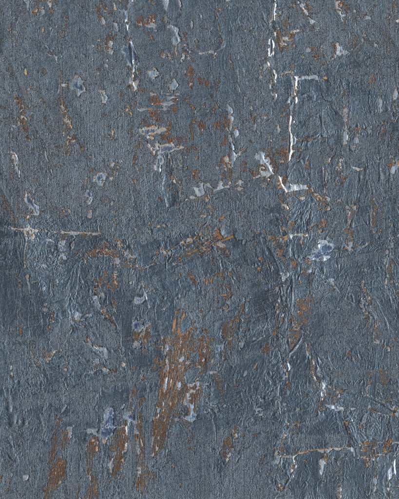 Cork Wallpaper in Blues from Industrial Interiors II by Ronald Redding for York Wallcoverings