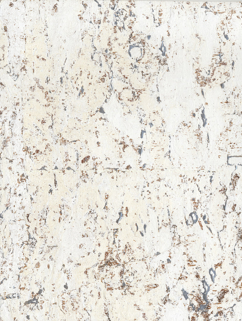 Cork Wallpaper in White/Off Whites from Industrial Interiors II by Ronald Redding for York Wallcoverings