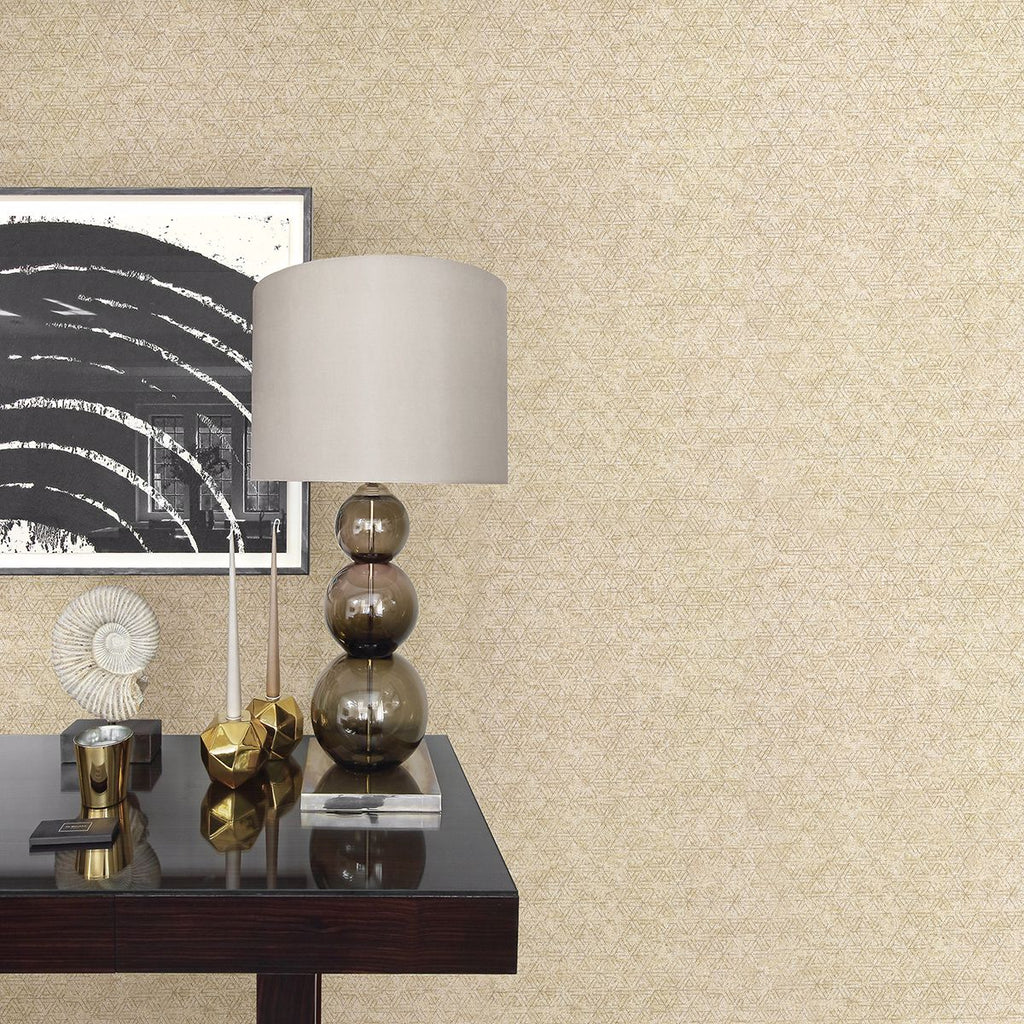 Cosmic Geometric Wallpaper in Champagne from the Polished Collection by Brewster Home Fashions
