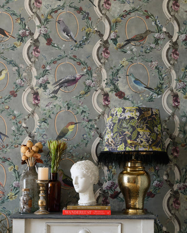 Countesse's Aviarium Wallpaper in Neutral from the Wallpaper Compendium Collection by Mind the Gap