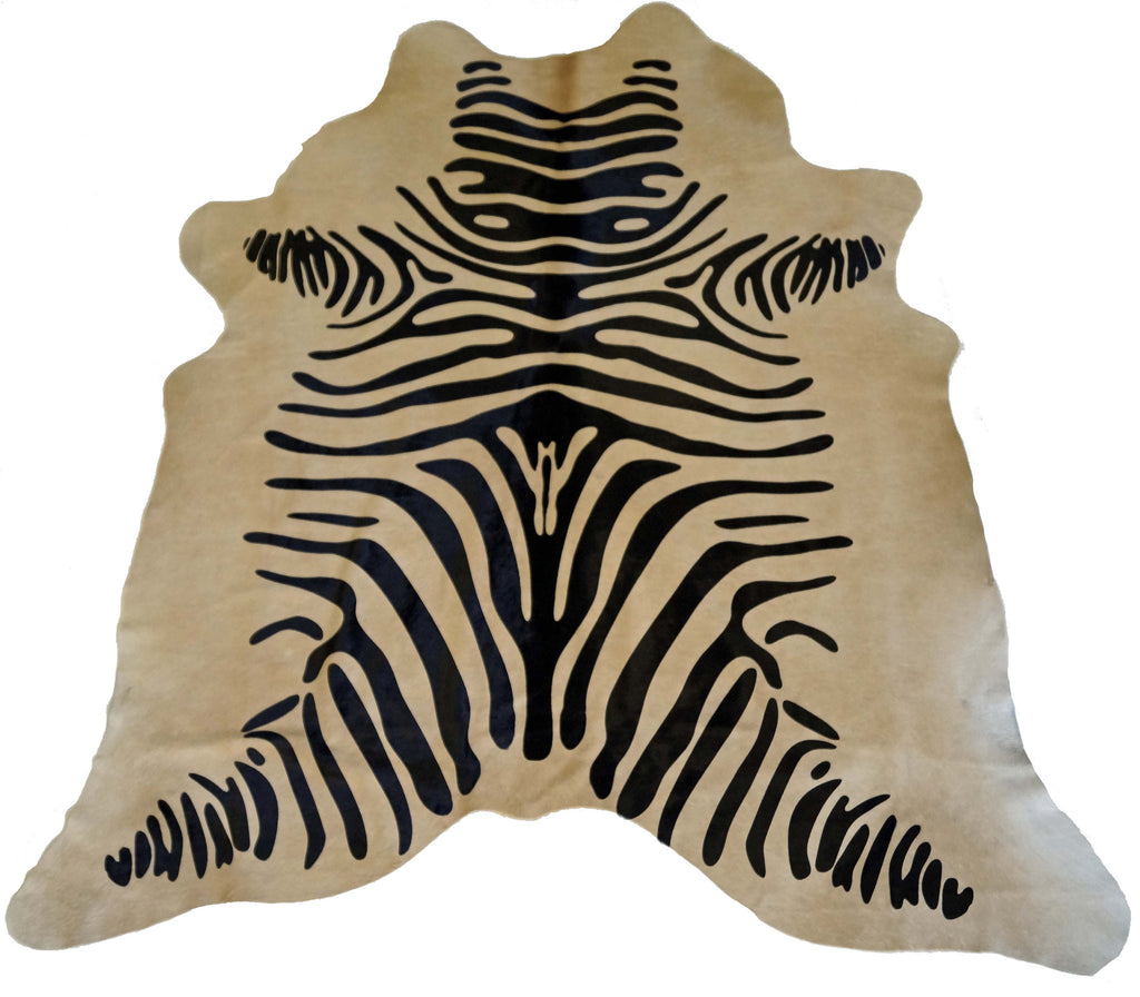 Black and Tan Zebra Cowhide Rug design by BD Hides