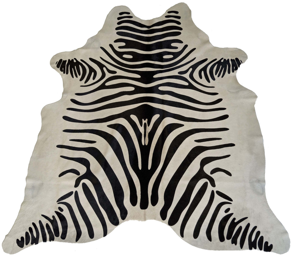 Black and White Zebra Cowhide Rug design by BD Hides