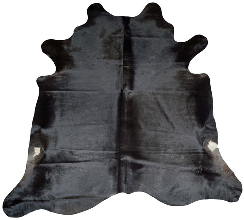Black Cowhide Rug design by BD Hides