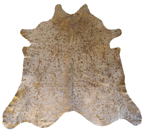 Gold Acid Wash Cowhide Rug design by BD Hides