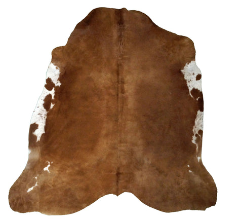 Medium Brown White Flanks Cowhide Rug design by BD Hides