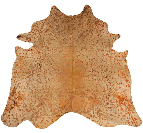 Orange Acid Wash Cowhide Rug design by BD Hides