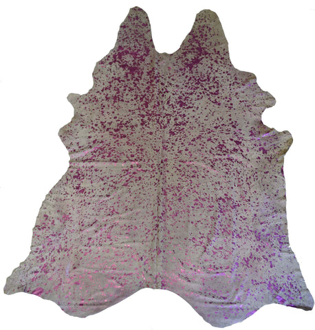 Metallic Pink Cowhide Rug design by BD Hides