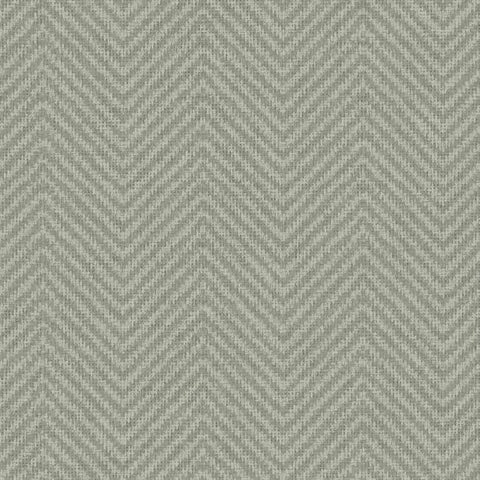 Cozy Chevron Wallpaper in Green from the Norlander Collection by York Wallcoverings