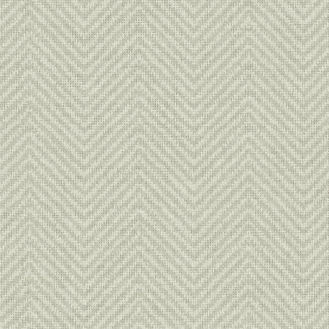 Cozy Chevron Wallpaper in Grey and Ivory from the Norlander Collection by York Wallcoverings