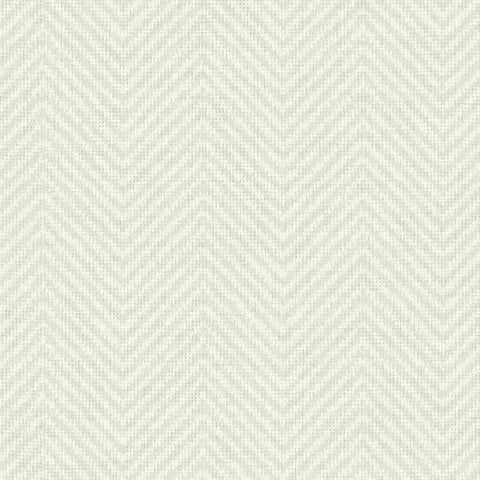 Cozy Chevron Wallpaper in Ivory and Beige from the Norlander Collection by York Wallcoverings