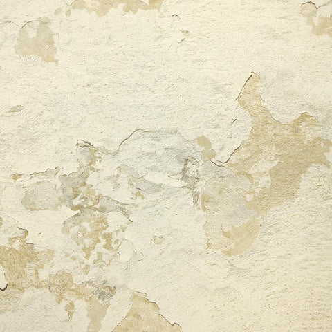 Cracked Plaster Wallpaper in Gold from the Precious Elements Collection by Burke Decor