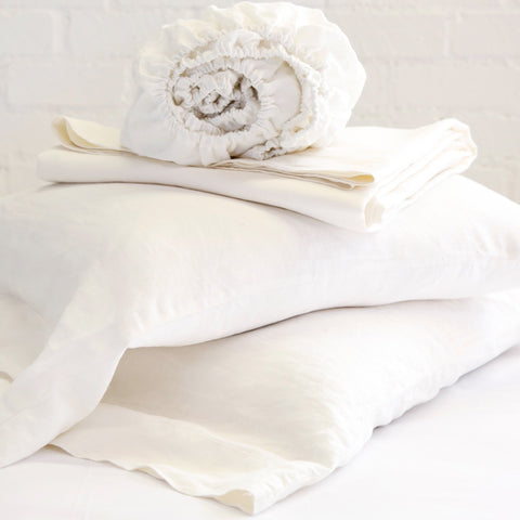 Linen Sheet Set in Cream by Pom Pom at Home