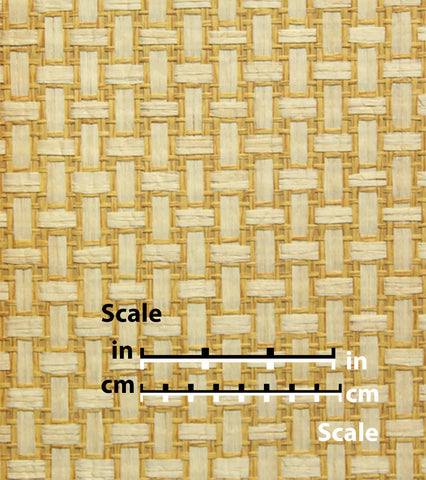 Cream and Saffron Cross Hatch Natural Wallpaper by Burke Decor