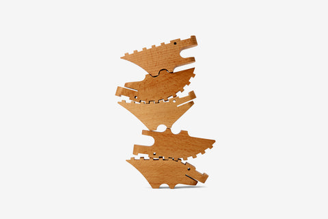 Croc Pile Large in Natural design by Areaware