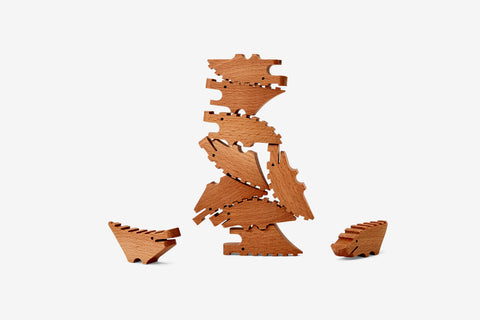 Croc Pile Mini in Natural design by Areaware