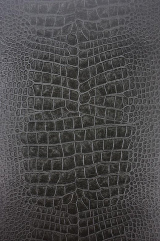 Sample Crocodilo Wallpaper in Black and Grey from the Metropolis Collection by Osborne & Little