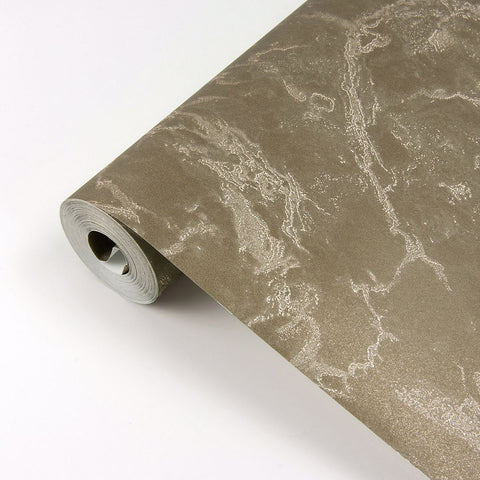Crux Marble Wallpaper in Chocolate from the Polished Collection by Brewster Home Fashions