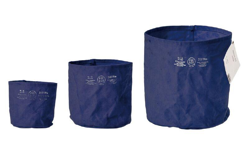 Canvas Pot Cover - Medium - Navy Blue