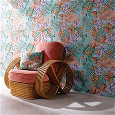 Flamingo Club Wallpaper by Matthew Williamson for Osborne & Little