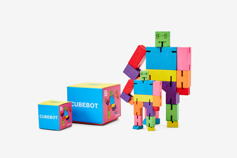 Cubebot in Various Sizes & Colors