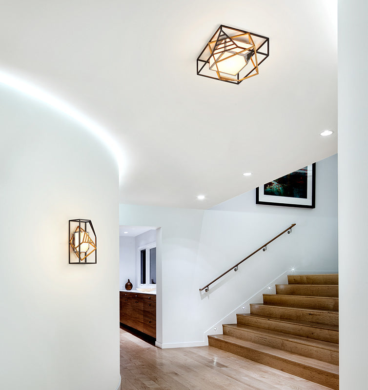 Cubist Ceiling Flush Mount by Troy Lighting