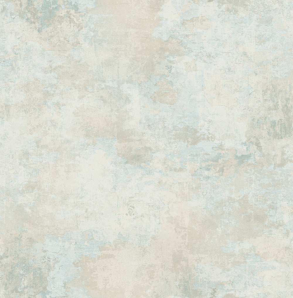 Culebrita Lighthouse Wallpaper in Blue and Gunmetal from the Solaris Collection by Mayflower Wallpaper