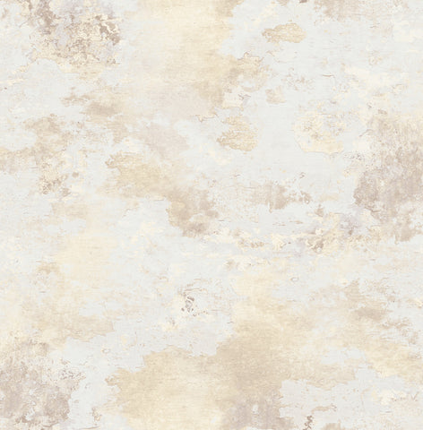 Culebrita Lighthouse Wallpaper in Sand and Cream from the Solaris Collection by Mayflower Wallpaper