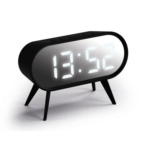Cyborg Alarm Clock in Black and Silver