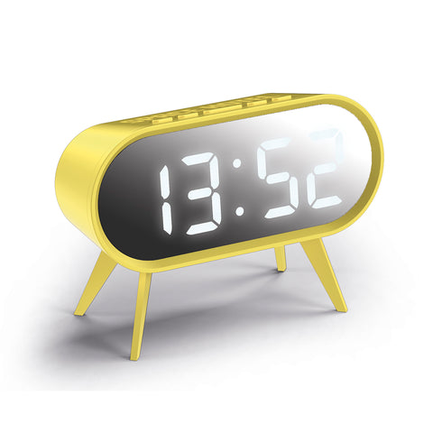 Cyborg Alarm Clock in Yellow and Silver