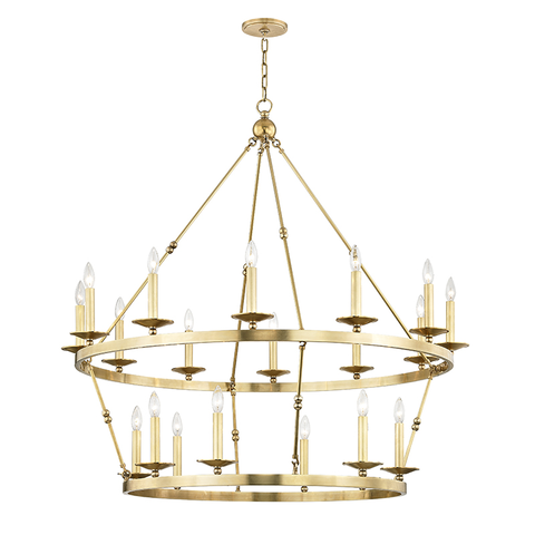 Allendale 20 Light Chandelier by Hudson Valley Lighting