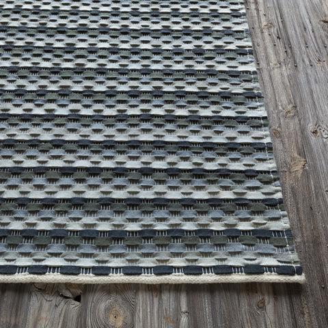 Dalamere Collection Hand-Woven Area Rug in Charcoal, Grey, & Ivory design by Chandra rugs