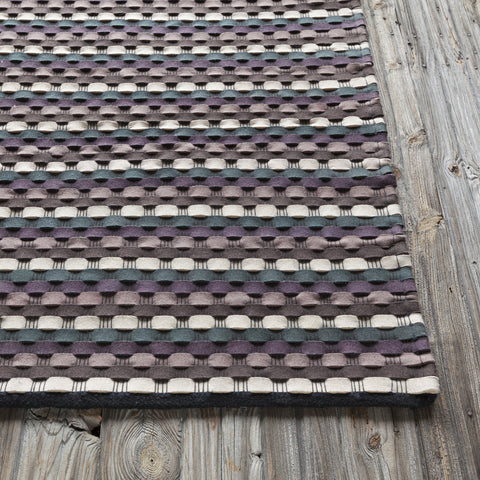 Dalamere Collection Hand-Woven Area Rug in Charcoal, Brown, & Purple design by Chandra rugs