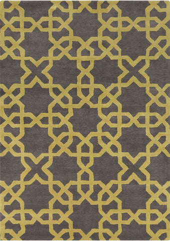 Davin Collection Hand-Tufted Area Rug in Charcoal & Green design by Chandra rugs