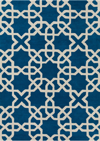 Davin Collection Hand-Tufted Area Rug in Blue & White design by Chandra rugs