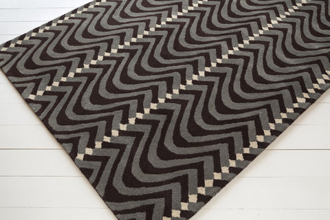 Davin Collection Hand-Tufted Area Rug in Brown, Taupe, & White design by Chandra rugs