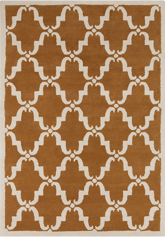 Davin Collection Hand Tufted Area Rug In Rusty Orange U0026 White Design By  Chandra ...