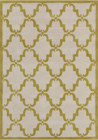 Davin Collection Hand-Tufted Area Rug in White & Green design by Chandra rugs