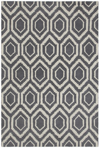Davin Collection Hand-Tufted Area Rug in White & Grey design by Chandra rugs